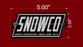 SNOWCO TRAILER FENDER DECALS BLACK AND BRUSHED CHROME