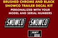 SNOWCO UTILITY TRAILER REPRODUCTION DECAL KIT