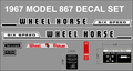 867 WHEEL HORSE DECAL SET