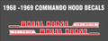 1968 1969 COMMANDO HOOD DECALS