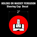 BOLENS HUSKY MAN STEERING CAP DECAL