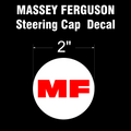 MASSEY FERGUSON RED ON WHITE STEERING CAP DECAL