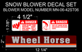 SNOW BLOWER SAFETY DECAL SET FITS MN-06-42ST06