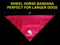 WHEEL HORSE BANDANA FOR LARGE DOGS