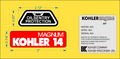 KOHLER MAGNUM ENGINE REPRODUCTION DECAL SET