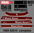 1989  520-H COMPLETE DECAL SET