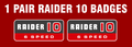raider 10 hood stand badge decals