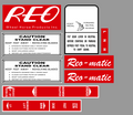 RR-66 REO-MATIC WHEEL HORSE REAR ENGINE RIDER DECAL SET