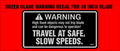 WHEEL HORSE BLADE WARNING DECAL