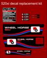 WHEEL HORSE 520XI ALTERNATIVE DESIGN REPLACEMENT DECAL COMPLETE SET