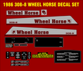 1986 WHEEL HORSE 308-8  DECAL SET