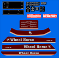1989 WHEEL HORSE 312-8 COMPLETE DECAL SET