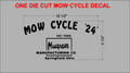 MOW CYCLE DIE CUT BLACK VINYL DECAL