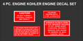 KOHLER FOUR PC REPRODUCTION ENGINE  DECAL SET