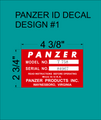 PANZER ID TAG DECAL  DESIGN #1