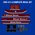 WHEEL HORSE 1985 417-A DECAL KIT