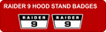 Copy of RAIDER 9 HOOD STAND BADGES
