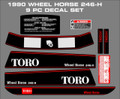 WHEEL HORSE 1990 246-H  Decal set