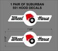 1961 SUBURBAN HOOD DECALS
