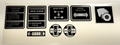 BLACKHOOD 8 SPEED CONSOLE DECALS FOR MOST 1980 THROUGH 1984 C-SERIES BLACKHOOD TRACTORS