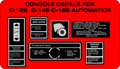WHEEL HORSE C-125, C-145, C-165 AND C-175 AUTOMATIC CONSOLE DECALS