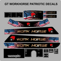 AMERICAN SERIES WORK HORSE GT TWIN 8 SPEED TRACTOR DECAL SET