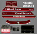 1988 252-H COMPLETE TRACTOR DECAL SET