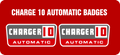 CHARGER 10 AUTOMATIC hood stand badge decals