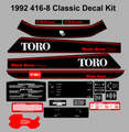 1992 416-8 WHEEL HORSE CLASSIC decal kit