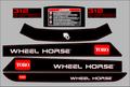 1997 THRU  2007 WHEEL HORSE 312-8 SEVEN PC.  HOOD AND FENDER SET