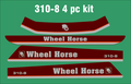 WHEEL HORSE  3 PIECE 310-8 hood and seat pan decals