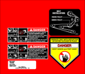 1994 42 INCH REAR DISCHARGE DECK DECAL SET