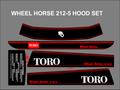 WHEEL HORSE 1990 212-5 SPEED  HOOD SET