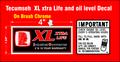TECUMSEH BRUSH CHROME XL EXTRA LIFE ENGINE DECALS