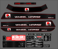 1995 - 1997 WHEEL HORSE 520 CUSTOM DECAL SET WITH CARBON FIBER LOOK