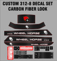1986 1987 WHEEL HORSE 312-8 CUSTOM CARBON FIBER LOOK COMPLETE DECAL SET