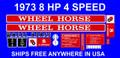 1973 8 HP 4 SPEED WHEEL HORSE DECALS SET