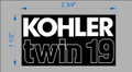 KOHLER TWIN 19 ENGINE DECAL