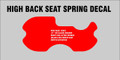 WHEEL HORSE 300 400 500 SERIES SEAT PAN DECAL HIGH BACK SEAT