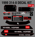 1999  314-8 WHEEL HORSE 18 PC.  COMPLETE DECAL KIT