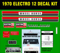 WHEEL HORSE 1970 ELECTRO 12 REPRODUCTION DECAL SET