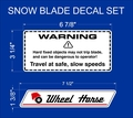 Snow Blade  Decal SET