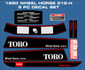 WHEEL HORSE 1990 212-H  DECAL SET