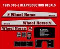 WHEEL HORSE 1985 310-8  DECAL KIT