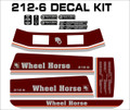 WHEEL HORSE 1987 1988 1989 212-6  SIX SPEED  DECAL SET