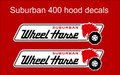 WHEEL HORSE 1960 SUBURBAN 400 HOOD DECALS