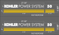 KOHLER POWER SYSTEM 50 GENERATOR DECAL SET