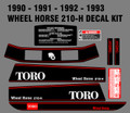 WHEEL HORSE 1990, 91, 92, OR 93  210-H  DECAL SET