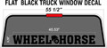 WHEEL HORSE LARGE FLAT BLACK DIE CUT DECAL