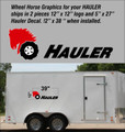 WHEEL HORSE HAULER DECALS